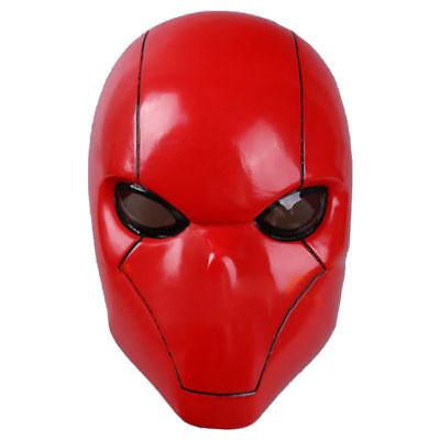 Red Hood Mask Adult Batman Wayne Cosplay Full Head Helmet PVC Full Head Mask New](Batman Cowl Cosplay)
