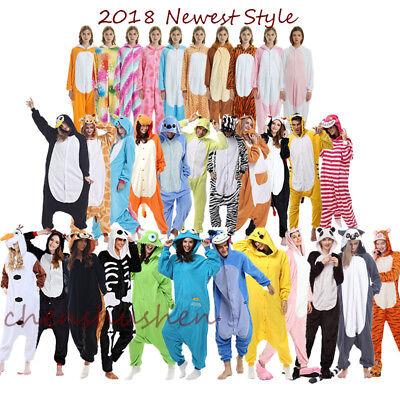 Einhorn Kostüm Erwachsene (Einhorn Pyjamas Kostüm Jumpsuit Tier Schlafanzug Erwachsene Unisex Fasching DHL)