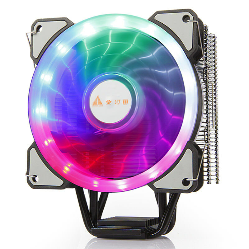 RGB LED Fan 4 Heatpipe PC Heatsink Radiator CPU Air Cooling