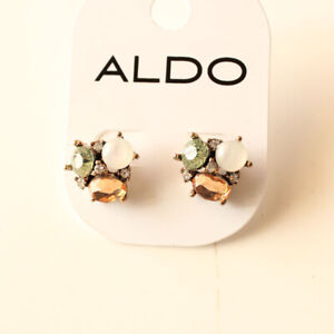 bb7fa32e3d9 New Aldo Acrylic Flower Stud Earrings Gift Vintage Women Party Holiday  Jewelry