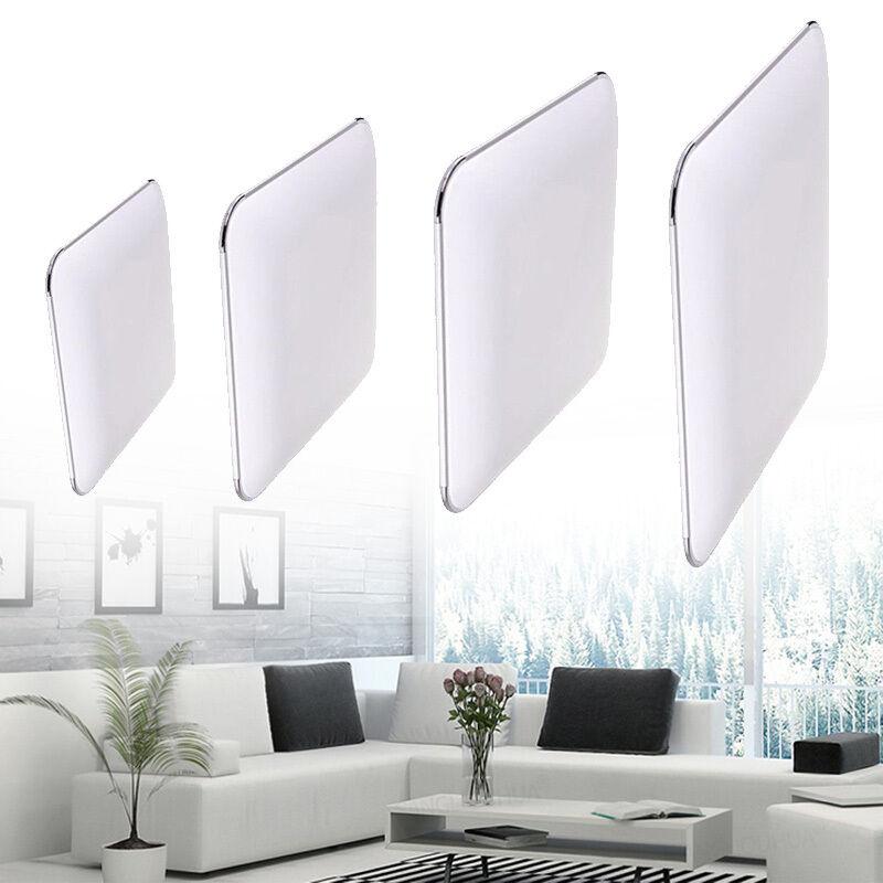 Ultraslim Deckenleuchte LED Badleuchte Deckenlampe Dimmbar Silber Flurlampe