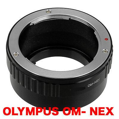 OM - NEX  Olympus OM  Objektiv Lens Adapter an-to Sony NEX Kamera E-Mount usato  Spedire a Italy