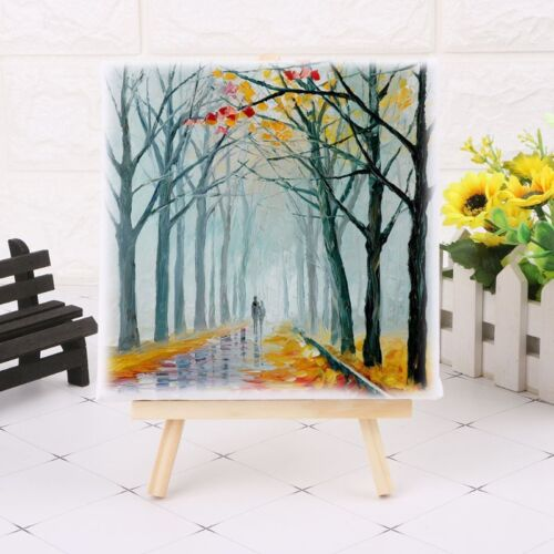 Mini Canvas And Natural Wood Easel Set For Art Painting Draw