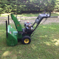 "John Deer Snowblower 8hp x 26"" cut"