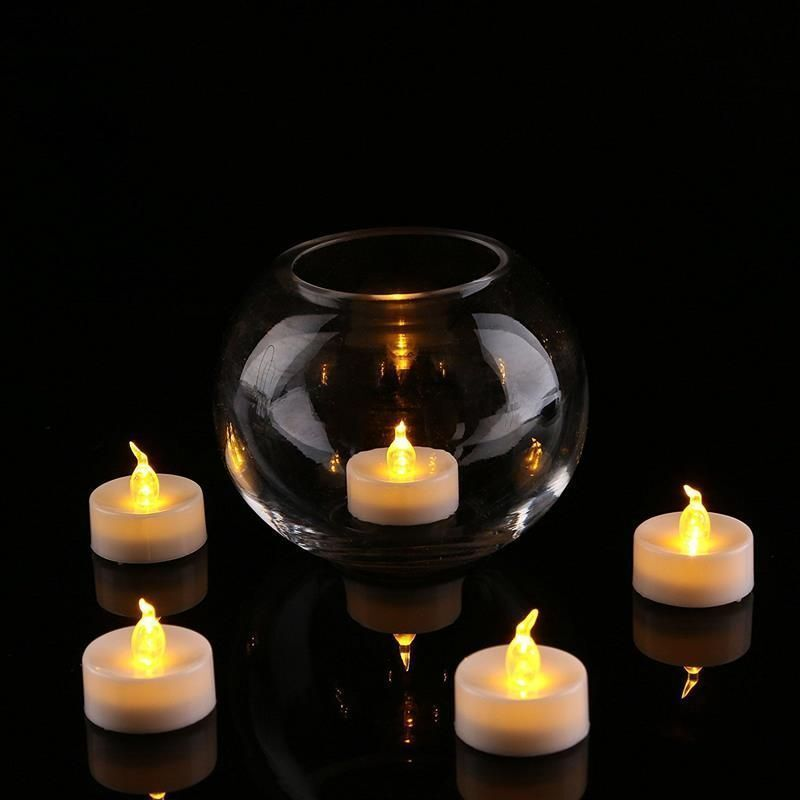 24pcs Led Tea Lights With Timer Battery Operated Flickering
