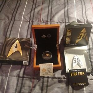 STAR TREK 50TH ANNIVERSARY PURE GOLD AND SILVER DELTA COINS!