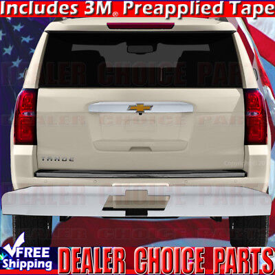 2015-2019 CHEVY TAHOE SUBURBAN UPPER Chrome Tailgate Handle COVER W/ Logo Cutout