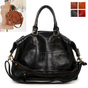 ◆Maxshop79◆ New GENUINE LEATHER purse handbag SATCHEL TOTES SHOULDER Bag[WB1092]