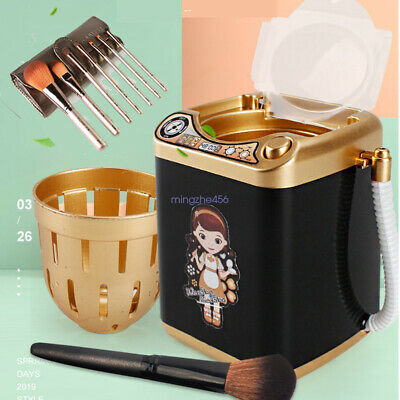 1PCS Mini Electric Washing Machine Children  Pre School Toy Wash Makeup Brushes