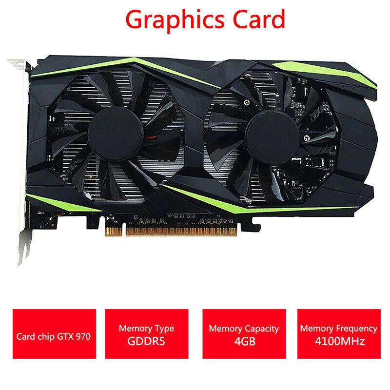 Desktop Graphics Card GTX970 4GB DDR5 128Bit Video Graphics Card Gaming Computer