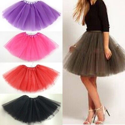 Women Girl Baby Pretty Elastic Stretchy Tulle Teen 3 Tutu Skirt Party Cocktail - Tu Tu Skirts