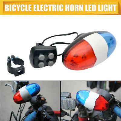 Electric Bike For Safety Cycling 4 Sounds 6 LED Police Ho Siren WXXX Light L9R6