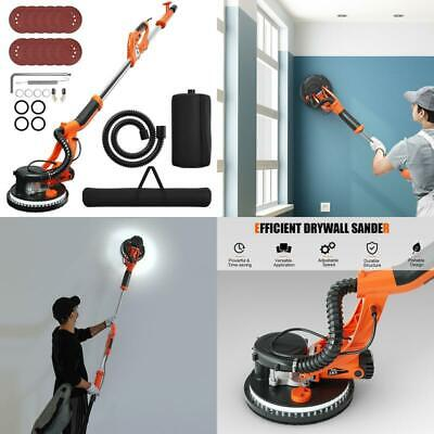 Electric Drywall Sander 750w Adjustable Variable Speed W Vacuum Light Tools