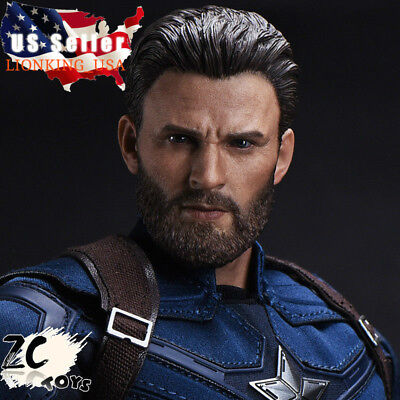 1//6 Winter soldier Bucky Barnes Head Captain America for Hot toys phicen ❶USA❶