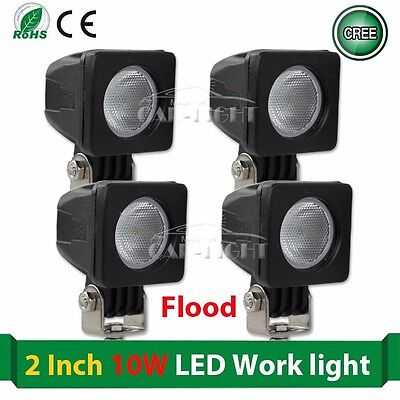 4x 10W Cree LED Work Light Spot Lamp Driving Fog Car Motorcycle Boat Vehicle ATV