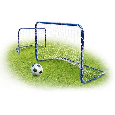 Fußballtor 182X122X61cm Fußball Tor mit Tornetz MIni Kleines Tor Set Blau
