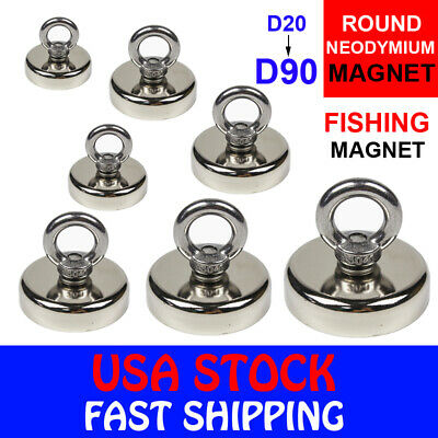 Fishing Magnet Neodymium Strong Pull Force Retrieving Treasure Hunt 14-660lb