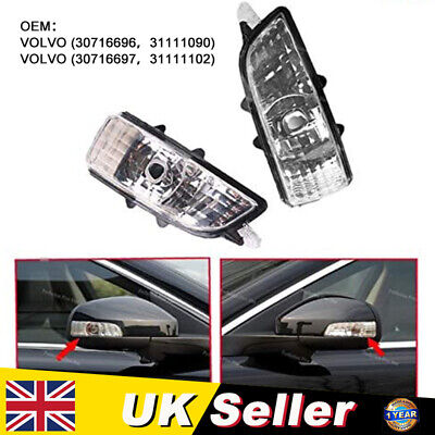 Right Front Wing Mirror Indicator Lens Light Lamp Fit For Volvo C30 S60 V70 S40