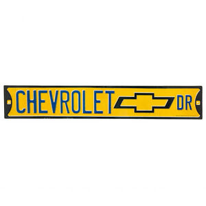 Chevrolet Drive Sign Metal Embossed GM