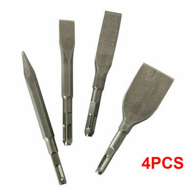 4pc Rotary Hammer Drill Sds Plus Bit Chisel Set For Concrete Stone Drilling Tool