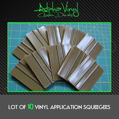 10 - Vinyl Application Squeegee - Decals Stickers Window Tint Squeegees Decal