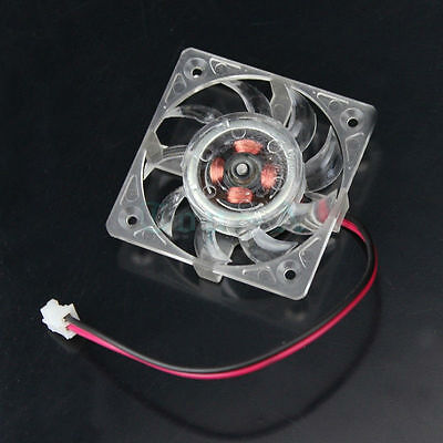 2 Pin 40x40x10mm 40mm 4cm Square VGA Video Graphics Card Clear Box Cooling Fan