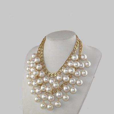 2 Broke Girls Caroline Pearl Beads Golden Pendant Necklace