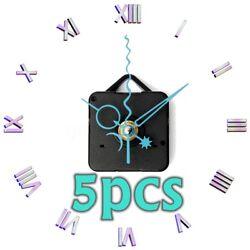 5Pcs DIY Star Moon Hands Wall Quartz Clock Movement Mechanism Spindle Repair Kit