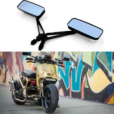 8mm 10mm Black Motorcycle Custom Rearview Mirrors For Cafe Racer Bobber Cruiser
