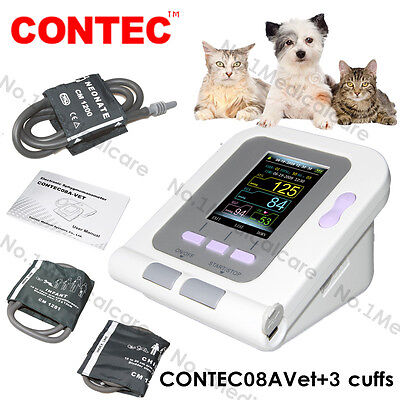 Vet Veterinary Digital Blood Pressure Monitor 3 Cuffs For Animaldogcat Ce