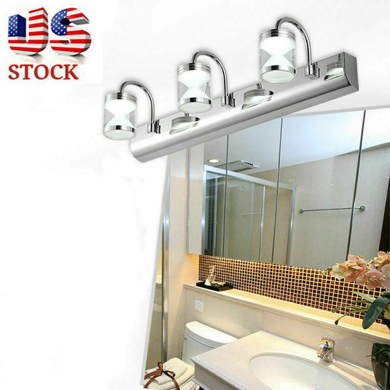 3/4Way Bathroom LED Crystal Mirror Light Wall Fixture Vanity