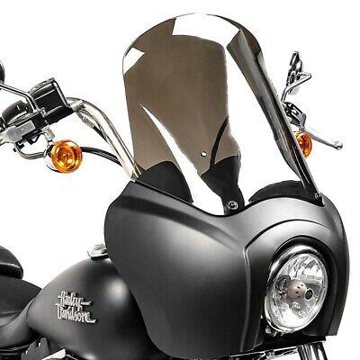 Lampenmaske MG5 für Harley Dyna Street Bob 06-17 Lampen schwarz matt-rauchgrau