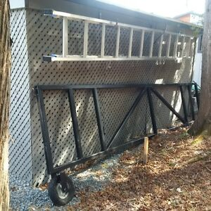 15 Ft Steel Gate complete with posts & all hardware - Black
