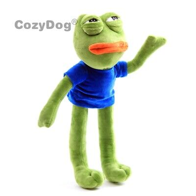 18'' Pepe The Frog Sad Frog Plush Doll Stuffed Animal Cuddly Toy Kids Xmas Gift