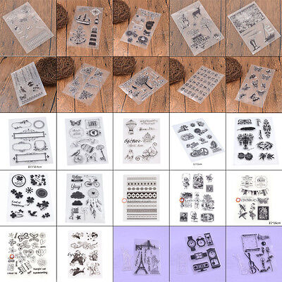 DIY Silicone Rubber Stamp Alphabet Scrapbooking Transparent Clear Cling Sheet