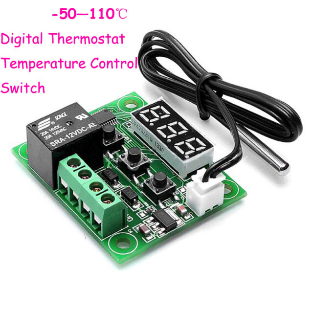 New DC 12V Cool Heat temp Thermostat  Temperature Control Switch -50-110°C ZD