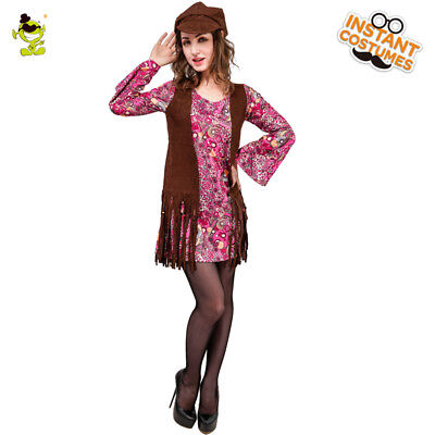 New Women's Hippie Dress Dress Vintage Style Adult  60'S 70'S Dancer - 70s Style Costumes