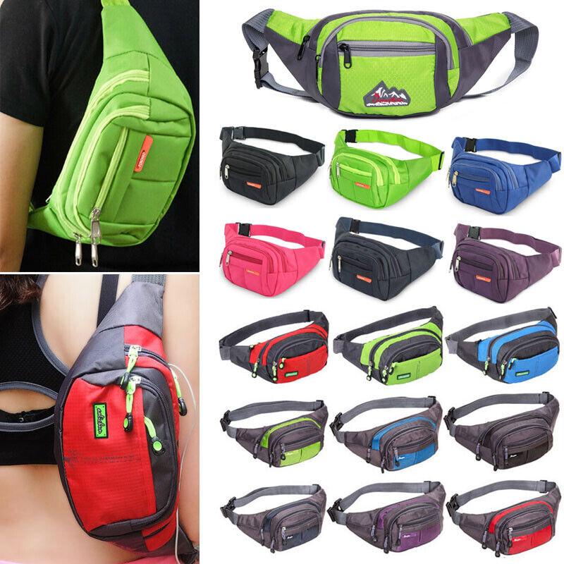 Bum Bag Fanny Pack Travel Featival Waist Money Belt Zip Sport Hiking Pouch Bag