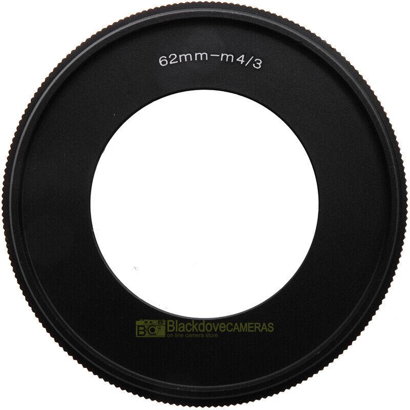 Anello inversione ottica 62mm. per fotocamere MFT micro 4/3. Per riprese macro.