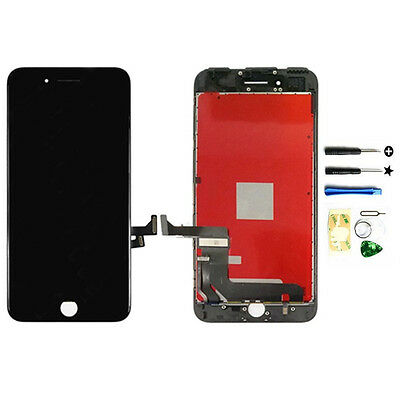 Black Replacement LCD Screen Touch Digitizer Frame Assembly for iPhone 7 4.7〃 US