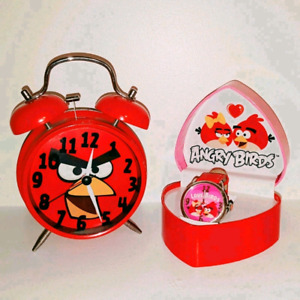 Angry Bird Alarm Clock and Lovebirds Ladies Watch