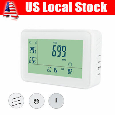 Co2 Meter Temperature Hygrometer Gas Leak Detector Air Quality Monitor Tester