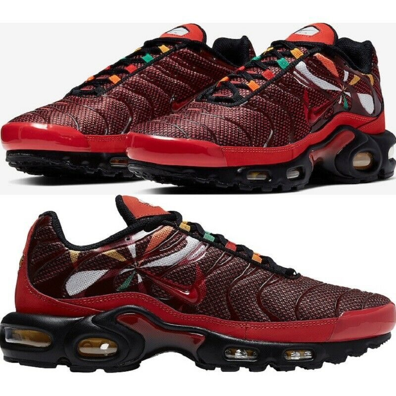 852630 602 Nike Air Max Plus TN 1 Team RedWhite Black