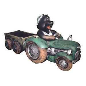 Maulwurf In Traktor Mit H Nger 155 Cm Garten Deko Figur