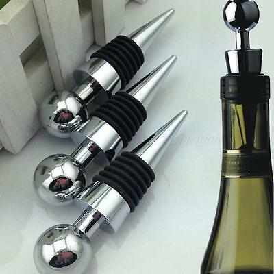 New Metal Bottle Stopper Wine Storage Twist Cap Plug Reusable Vacuum Sealed UK