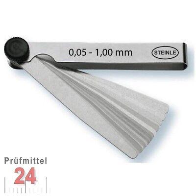 STEINLE Fühlerlehre 0,05 - 1,00 mm 13 -tlg. Abstandslehre Fühlerlehren Fühllehre