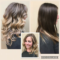 $65 for partial highlights, wash cut and style