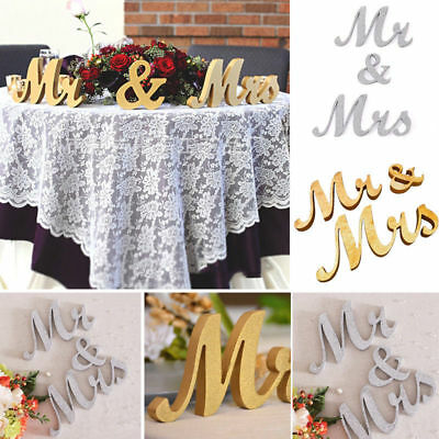 Wedding Reception Sign Solid Wooden Letters Mr&Mrs/LOVE Table Centrepiece Decor