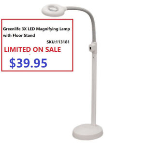 Greenlife Etobicoke 3X Magnifying Lamp Light with Floorstand $39