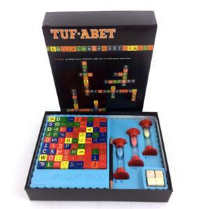 Tuf-Abet Board Game Avalon Hill Bookcase Interlocking Word Game